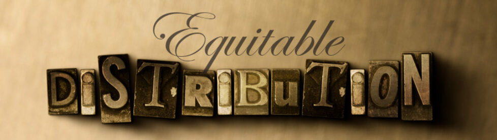 Equitable Distribution of property